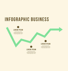 Business infographic line graph design vector