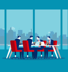 business office team workplace concept business vector image