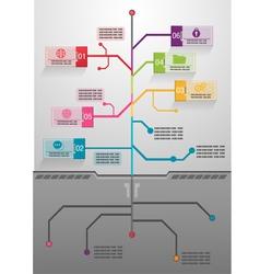 Business tree info graphics vector image