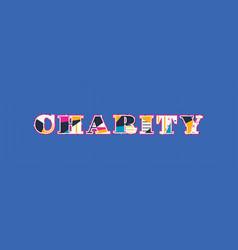 Charity concept word art vector