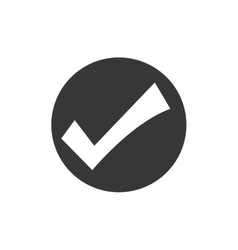 check mark button seal stamp icon graphic vector image