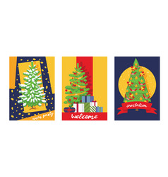 Christmas winter tree bazaar sale saleable vector