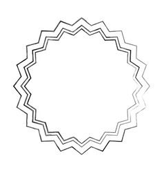 Circle seal stamp lace vector