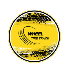 circle tire track yellow background vector image