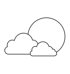 Clouds and sun japanese vector