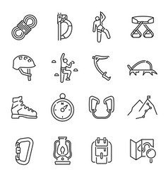 collection linear simple climbing icon vector image