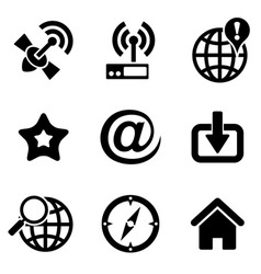 Computer web icons vector