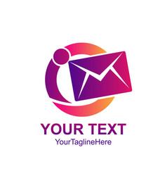 Creative abstract circle movement mail envelope vector