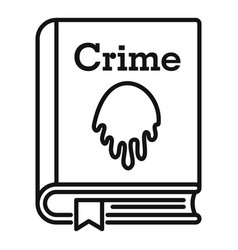 Crime book icon outline style vector