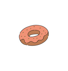 cute isolated donut vector image