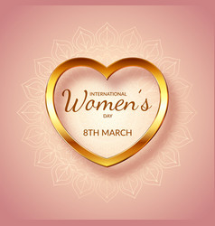 Decorative international womens day background vector