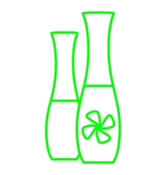 Deodorizer bottle vector