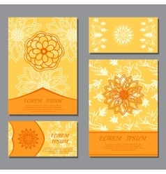 design templates with mandala vector image
