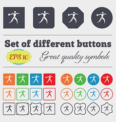 Discus thrower icon sign Big set of colorful vector