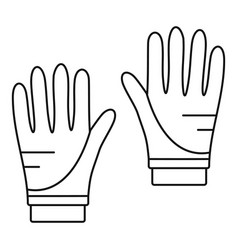 Diving gloves icon outline style vector