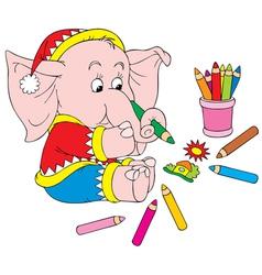 Elephant artist vector