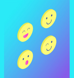 emoji emoticons face expressions set icons vector image