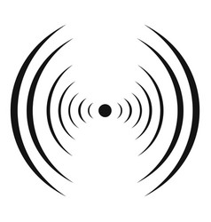 equalizer abstract icon simple black style vector image