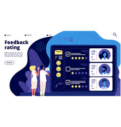 feedback landing page customer satisfaction group vector image