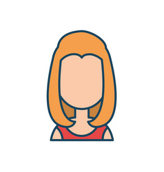 Female character social network flat isolated vector