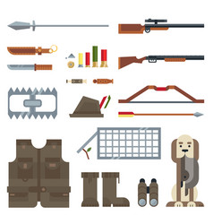 Flat modern icons set of real man tools vector