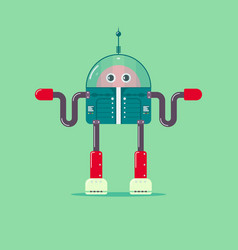 flat robot vector image