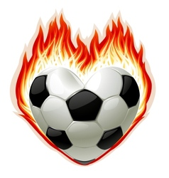 Football on fire vector
