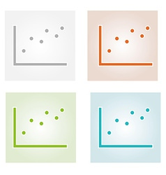 Four color dotted charts vector
