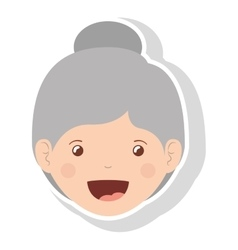 front face elderly woman smiling vector image