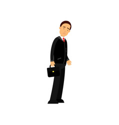 Frustrated businessman character standing with vector