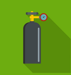 gas balloon icon flat style vector image