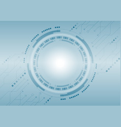 glowing technology circle and circuit board with vector image