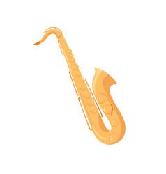 Gold brass saxophone sax woodwind jazz music vector