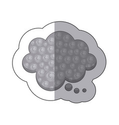 Gray cloud chat bubble icon vector