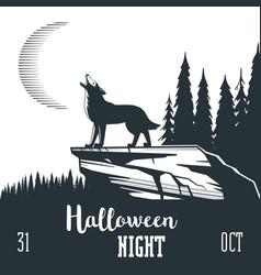 Halloween night concept 02 vector