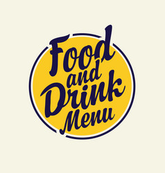 hand drawn inscriptions food and drink menu vector image