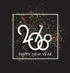Happy new year confetti background vector
