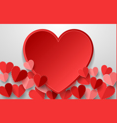 happy valentines day with red heart vector image