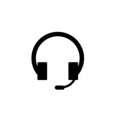 hotline support headphone icon signs and symbols vector image