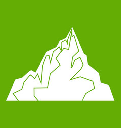 iceberg icon green vector image