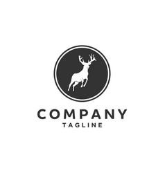 Jumping antelope deer logo vector