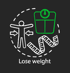 Lose weight chalk concept icon healthy lifestyle vector