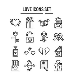 love icon in outline design for web design vector image