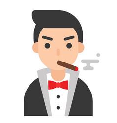 mafia icon profession and job vector image