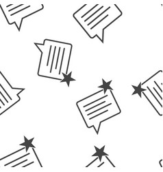 message favorite star icon seamless pattern vector image
