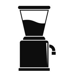Modern coffee grinder icon simple style vector