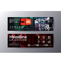 Modern design banners with abstract background vector