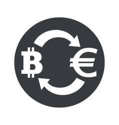 Monochrome bitcoin euro exchange icon vector image