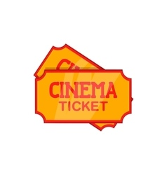 Movie ticket icon cartoon style vector