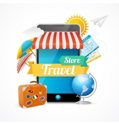 On-line Travel Concept vector